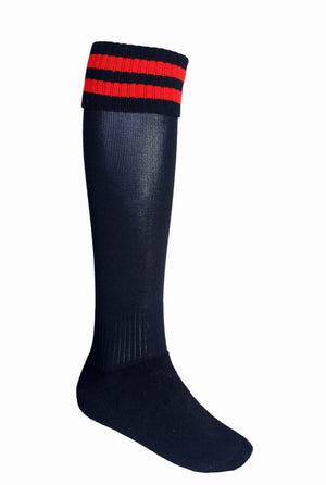 Bocini-Bocini Stripes Socks-Black/Red / Junior-Uniform Wholesalers - 6