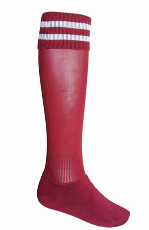 Bocini-Bocini Stripes Socks-Burgundy/White / Child-Uniform Wholesalers - 5