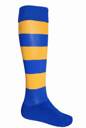 Bocini-Bocini Stripes Socks-Royal/Gold / Child-Uniform Wholesalers - 12