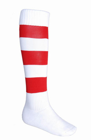 Bocini-Bocini Stripes Socks-White/Red / Child-Uniform Wholesalers - 10