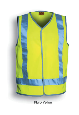 Bocini-Bocini Hi-Vis Vest With Reflective Tape-Fluro Yellow / S-Uniform Wholesalers - 3