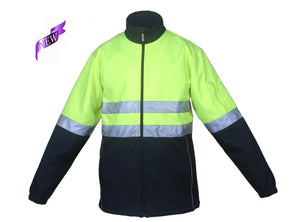 Bocini-Bocini Hi-Vis Soft Shell Jacket-Yellow/Navy / S-Uniform Wholesalers - 2