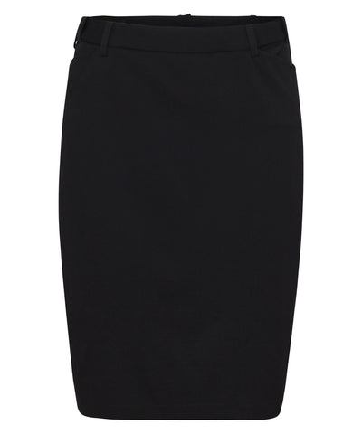 Bracks-Bracks Wemons Black Plain Twill Suit Separates Ezifit Skirt-10 / BLACK-Uniform Wholesalers