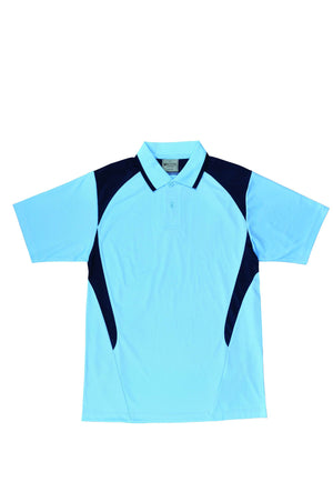 Bocini-Bocini Adults Active Polo-Sky/Navy / S-Uniform Wholesalers - 10