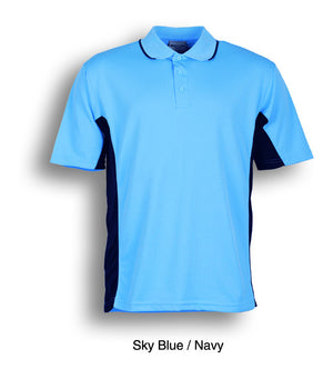 Bocini-Bocini Kids Breezeway Panel Polo(2nd 9 colors)-Sky Blue/Navy / 4-Uniform Wholesalers - 7