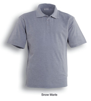 Bocini-Bocini Cotton Jersey Polo-Snow Marle / S-Uniform Wholesalers - 4