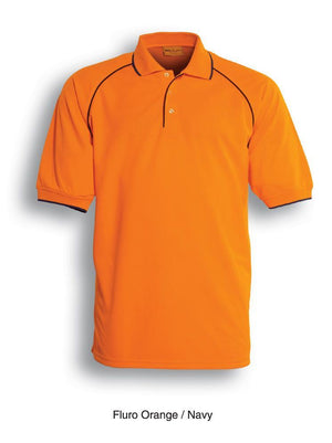 Bocini-Bocini Hi-Vis Breezeway Polo-Orange/Navy / S-Uniform Wholesalers - 2