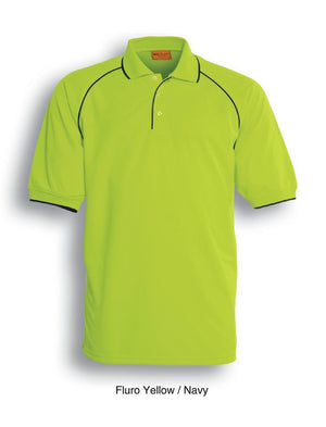Bocini-Bocini Hi-Vis Breezeway Polo-Yellow/Navy / S-Uniform Wholesalers - 3