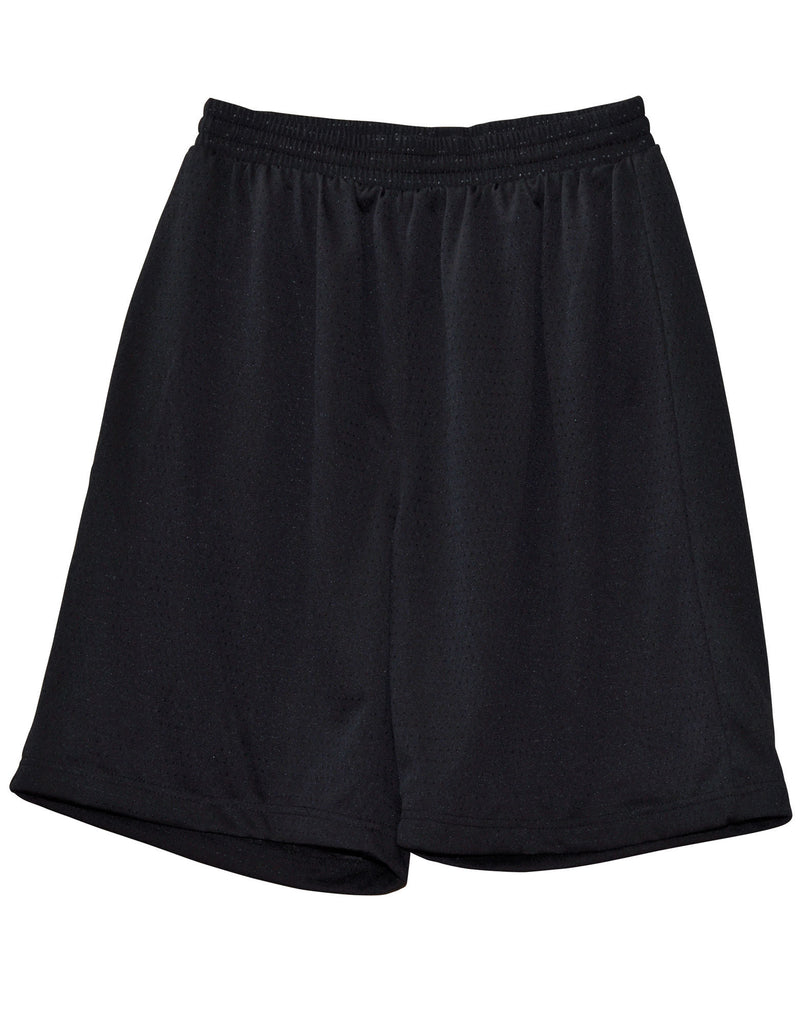 Winning Spirit-Winning Spirit Adults' CoolDry® Basketball Shorts-Black / M-Uniform Wholesalers - 2
