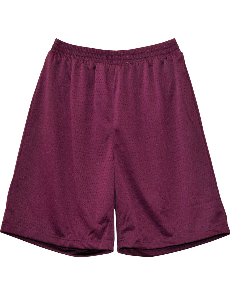 Winning Spirit-Winning Spirit Adults' CoolDry® Basketball Shorts-Maroon / S-Uniform Wholesalers - 4