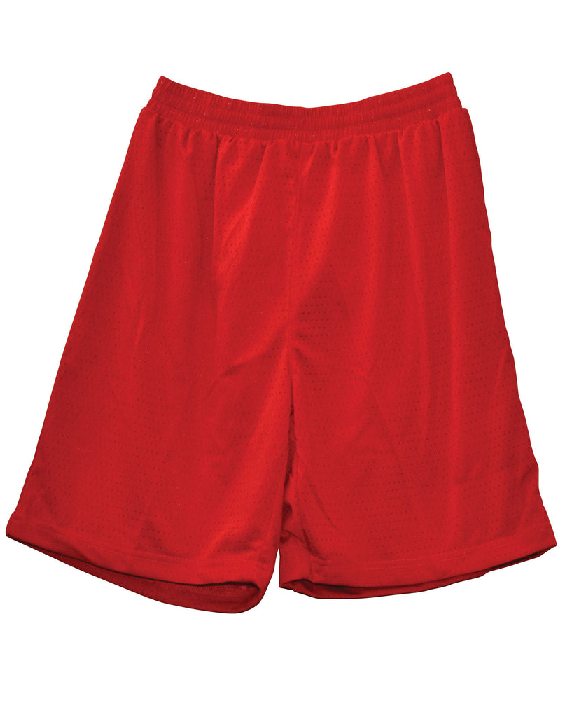 Winning Spirit-Winning Spirit Adults' CoolDry® Basketball Shorts-Red / S-Uniform Wholesalers - 6