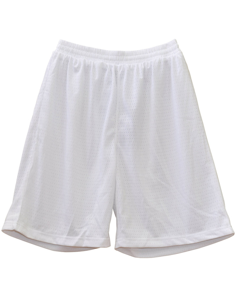 Winning Spirit-Winning Spirit Adults' CoolDry® Basketball Shorts-White / S-Uniform Wholesalers - 8