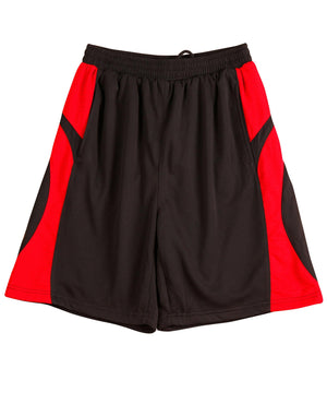 Winning Spirit-Winning Spirit Adults' CoolDry® Basketball Shorts-Black/red / S-Uniform Wholesalers - 2