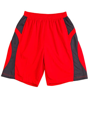 Winning Spirit-Winning Spirit Adults' CoolDry® Basketball Shorts-Red/navy / S-Uniform Wholesalers - 4