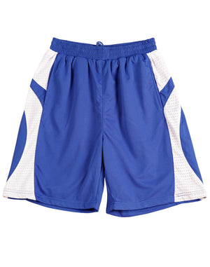 Winning Spirit-Winning Spirit Adults' CoolDry® Basketball Shorts-Royal/white / S-Uniform Wholesalers - 5