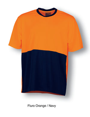 Bocini-Bocini Hi-Vis Safety Tee-Fluro Orange/Navy / S-Uniform Wholesalers - 2