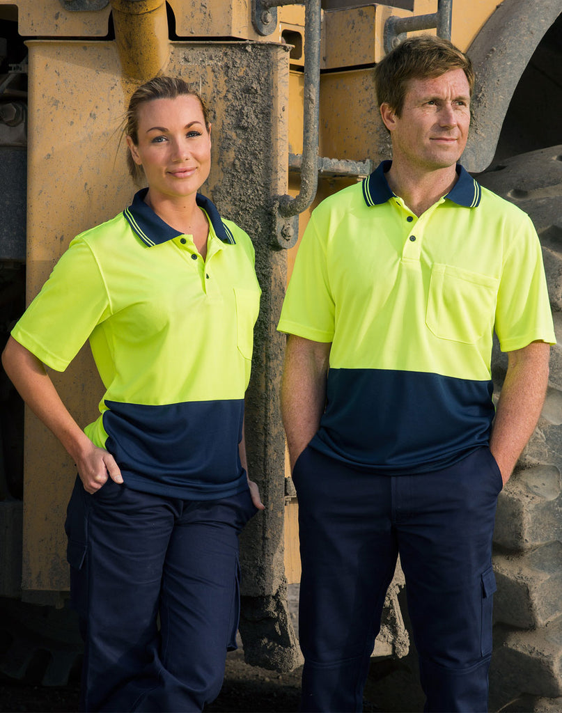 Winning Spirit Hi Visibility Short Sleeve Cooldry Micro-Mesh Safety Polo (SW01CD)