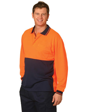 Winning Spirit Hi Visibility Long Sleeve CoolDry Micro-mesh Safety Polo (SW05CD)
