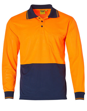 Winning Spirit High Visibility Long Sleeve Polo (SW05TD)