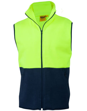 Winning Spirit Hi-Vis 2 Tone Zip Front Safety Vest (SW08)
