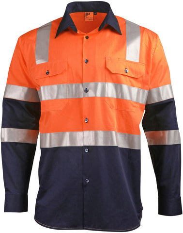 Winning Spirit Biomotion Day/night Light Weight Safety Shirt With X Back Tape Configuration (SW70)