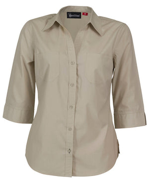 identitee-Identitee Ladies Harley 3/4 Sleeve-Sand / 8-Uniform Wholesalers - 7