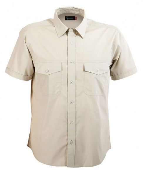 identitee-Identitee Mens Harley Short Sleeve-Sand / S-Uniform Wholesalers - 7