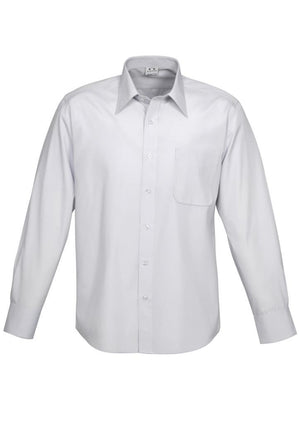 Biz Collection-Biz Collection Mens Ambassador Long Sleeve Shirt-Silver Grey / S-Uniform Wholesalers - 4
