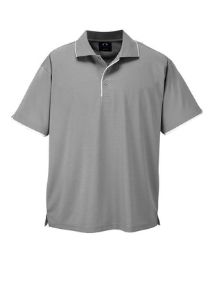 Biz Collection-Biz Collection Mens Elite Polo-Silver Grey / White / Small-Uniform Wholesalers - 6