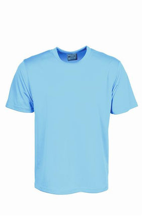 Bocini-Bocini Adults Plain Breezeway Micromesh Tee Shirt 1st (14 Colour)-Sky Blue / S-Uniform Wholesalers - 11
