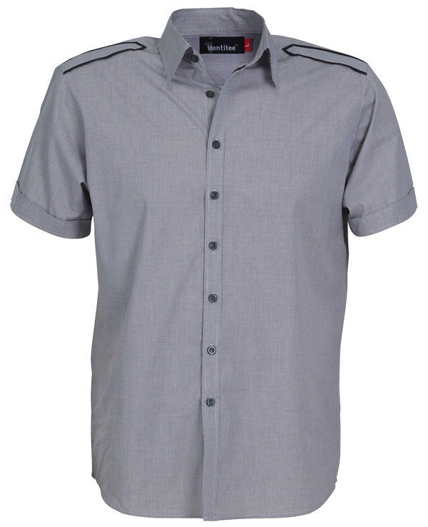 identitee-Identitee Mens Havana Short Sleeves-Smoke/Black / S-Uniform Wholesalers - 4