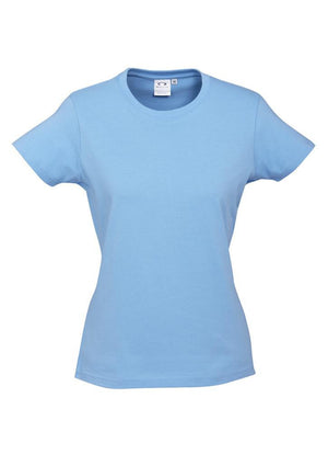 Biz Collection-Biz Collection Ladies Ice Tee 2nd  ( 10 Colour )-Spring Blue / 6-Uniform Wholesalers - 3