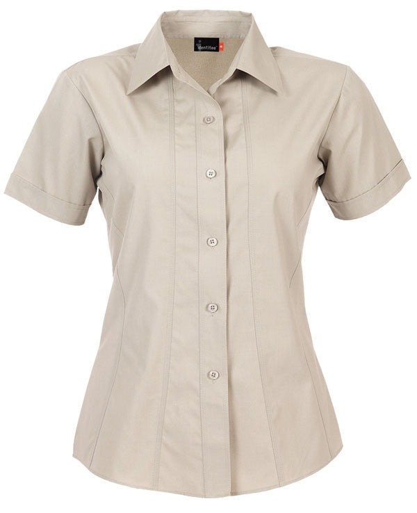 identitee-Identitee Ladies Aston Short Sleeve-Stone / 8-Uniform Wholesalers - 6