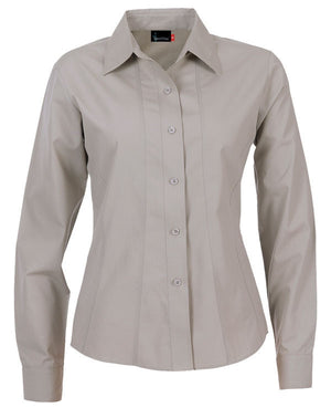 identitee-Identitee Ladies Aston Long Sleeve-Stone / 8-Uniform Wholesalers - 6