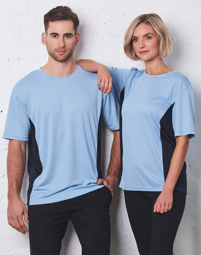 Winning Spirit Adults' Unisex Teammate CoolDry Mesh Contrast Tee (TS12)