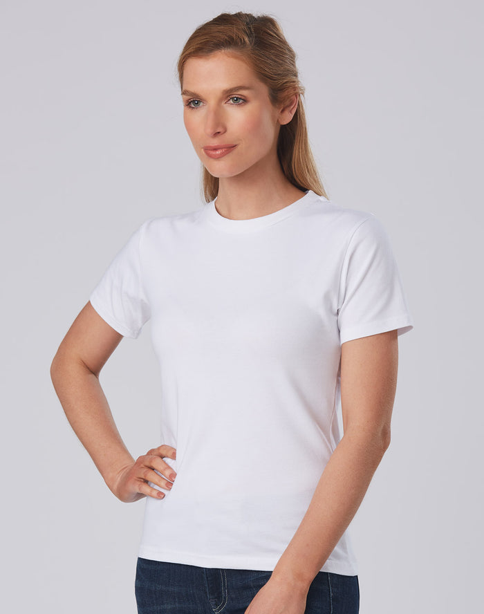 Winning Spirit Ladies' Superfit Cotton Stretch Fitted Tee (TS15)