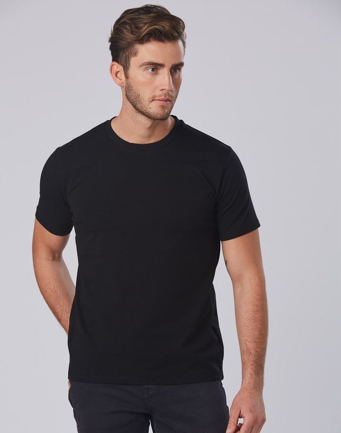 Winning Spirit Men's Superfit Cotton Stretch Fitted Tee (TS16)