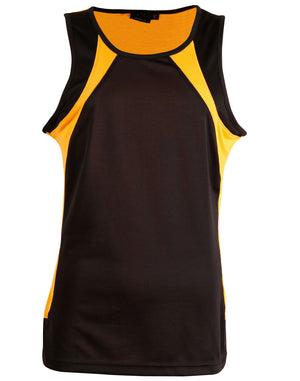 Winning Spirit-Winning Spirit Men's Sprint Singlet-Black/gold / S-Uniform Wholesalers - 3