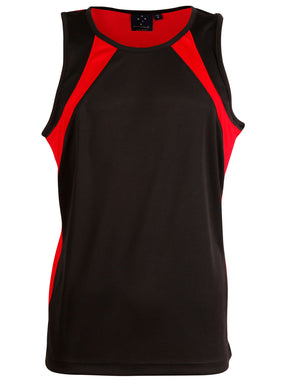 Winning Spirit-Winning Spirit Men's Sprint Singlet-Black/red / S-Uniform Wholesalers - 4