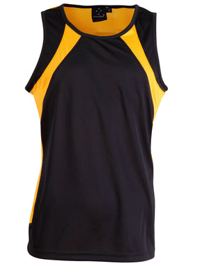 Winning Spirit-Winning Spirit Men's Sprint Singlet-Navy/gold / S-Uniform Wholesalers - 7
