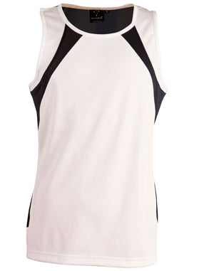Winning Spirit-Winning Spirit Men's Sprint Singlet-White/navy / S-Uniform Wholesalers - 10
