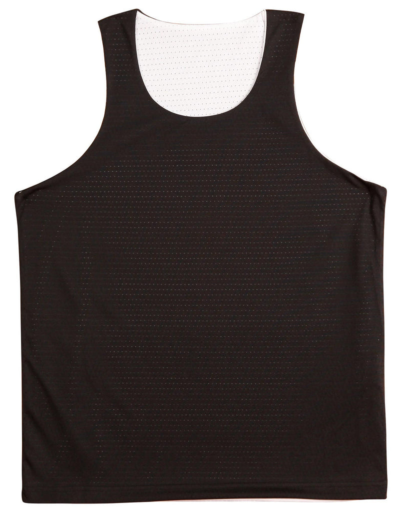 Winning Spirit-Winning Spirit Adults' CoolDry® Basketball Singlet-Black/white / S-Uniform Wholesalers - 2