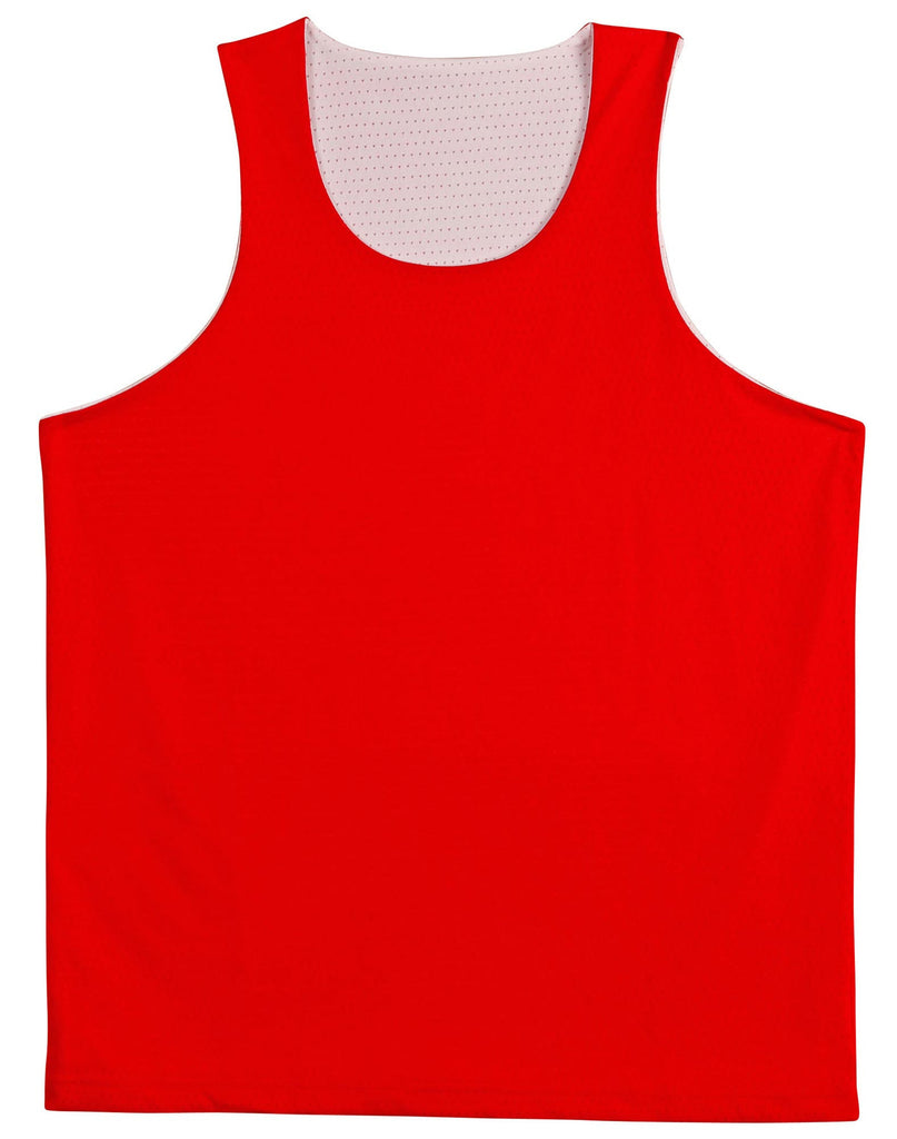 Winning Spirit-Winning Spirit Adults' CoolDry® Basketball Singlet-Red/white / S-Uniform Wholesalers - 5