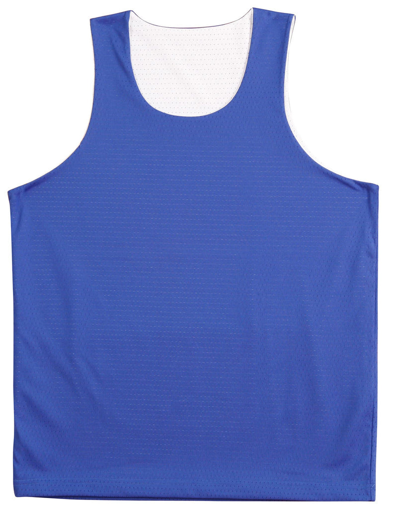 Winning Spirit-Winning Spirit Adults' CoolDry® Basketball Singlet-Royal/white / S-Uniform Wholesalers - 6