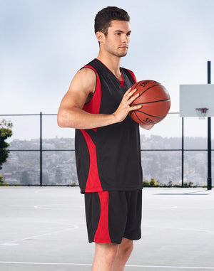 Winning Spirit Adults' CoolDry Basketball Contrast Colour Singlet (TS83)
