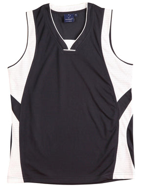Winning Spirit-Winning Spirit Adults' CoolDry® Basketball Singlet-Navy/White / XL-Uniform Wholesalers - 3