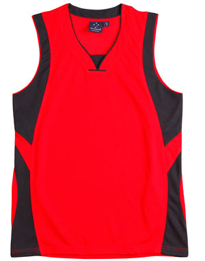 Winning Spirit-Winning Spirit Adults' CoolDry® Basketball Singlet-Red/Navy / S-Uniform Wholesalers - 4