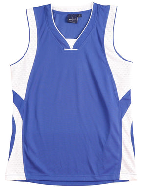 Winning Spirit-Winning Spirit Adults' CoolDry® Basketball Singlet-Royal/White / S-Uniform Wholesalers - 5
