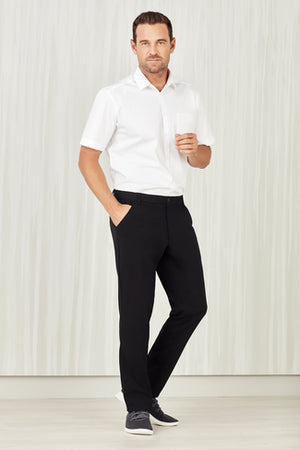 Biz Care Mens Comfort Waist Flat Front Pant (CL958ML)
