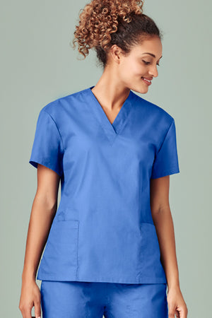 Biz Care Ladies Classic Scrubs Top (H10622)
